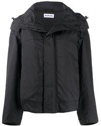 Balenciaga Upside Down オーバーサイズ パーカーコート - ブラック