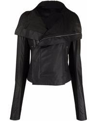 Rick Owens Байкерская Куртка - Черный