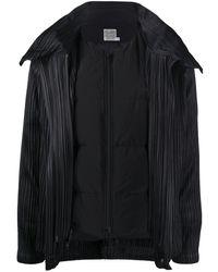 Pleats Please Issey Miyake Quilt Lining Pleated Jacket - Black