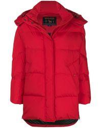 Woolrich - Detachable Hood Padded Jacket - Lyst