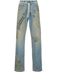 Off-White c/o Virgil Abloh Extreme Bleach Jeans - Blue