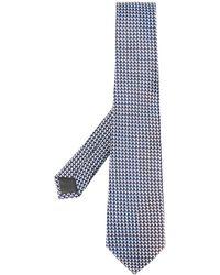 Canali Cube Pattern Tie - Blue