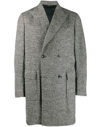Tonello Двубортное Пальто - Серый