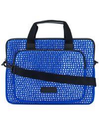 Marc Jacobs Monogram Print Laptop Bag - Blue