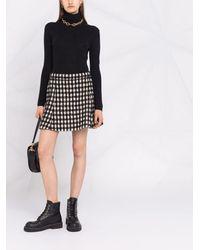 Chloé チェック Aラインスカート - ブラック