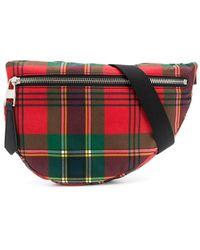 Alexander McQueen Tartan Print Belt Bag - Red