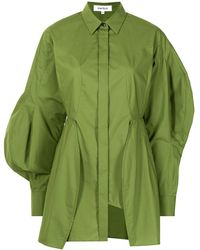 Enfold アシンメトリーシャツ - グリーン