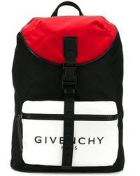 Givenchy Rucksack in Colour-Block-Optik - Schwarz
