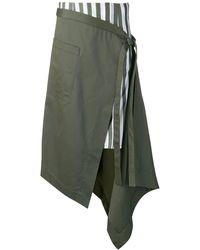 Monse ラップスカート - グリーン
