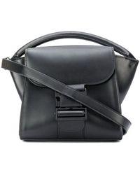 Zucca Buckle Shoulder Bag - Black