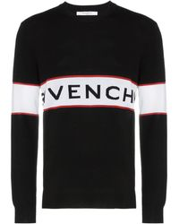 Givenchy Pullover mit Logo-Streifen - Schwarz