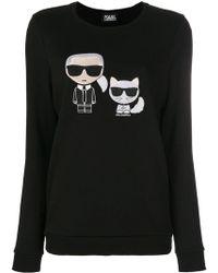 Karl Lagerfeld - Толстовка 'karl & Choupette Ikonik' - Lyst