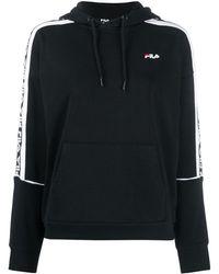 Fila Sweat à capuche à bandes logos - Noir