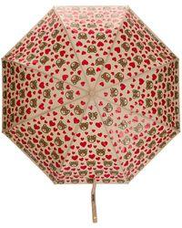 Moschino Teddy Hearts Umbrella - Brown