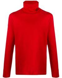 Versace Футболка С Высоким Воротником - Красный