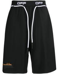 Off-White c/o Virgil Abloh Logo-tape Running Shorts - Black