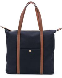 Mismo Top Handles Shopper Tote Bag - Blue