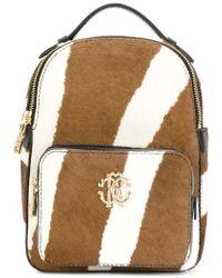 Roberto Cavalli - Zebra Print Calf Hair Mini Backpack - Lyst