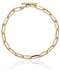 Lizzie Mandler Yellow Gold Knife Edge Chain Link Bracelet - Металлик