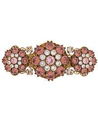 Dolce & Gabbana ビジューヘアピン - メタリック