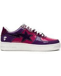 A Bathing Ape Bape Sta Sneakers - Purple