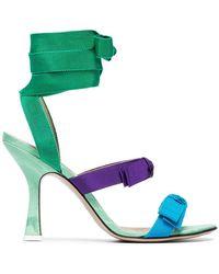 Attico - Multi Coloured Diletta 100 Ribbon Leather Sandals - Lyst