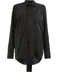 Moohong Paneled Shirt - Black