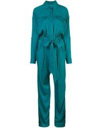 MILLY ベルテッド ジャンプスーツ - ブルー