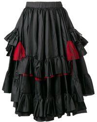 Comme des Garçons Layered Pleated Skirt - Черный