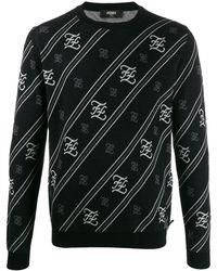 Fendi - Karligraphy ストライプセーター - Lyst