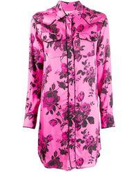 Laneus Рубашка С Цветочным Принтом - Розовый