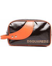 DSquared² ロゴプリント トラベルポーチ - ブラック
