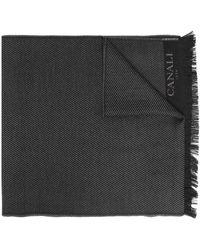 Canali Шарф С Вышитым Логотипом - Черный