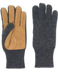 Brunello Cucinelli Handschoenen Met Vlakken - Grijs