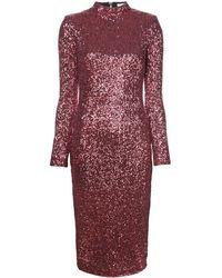 Rebecca Vallance Robe courte brodée de sequins - Rose