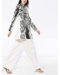 Tibi Avril シルク スパンコール ドレス - メタリック