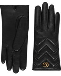 Gucci Перчатки GG Marmont - Черный