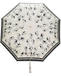 Boutique Moschino Regenschirm mit Cartoon-Print - Mehrfarbig