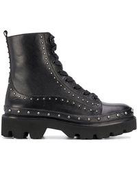 Pinko Ботинки Rockstud В Стиле Милитари - Черный