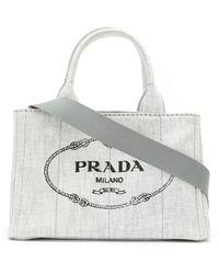 Prada - カナパ デニム トートバッグ - Lyst