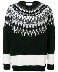 White Mountaineering - Crew Knit Jumper - Lyst