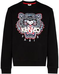 KENZO Tiger Cotton Jumper - Black