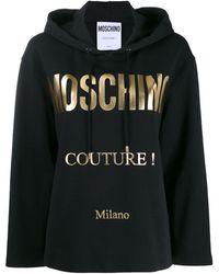 Moschino ロゴプリント パーカー - ブラック