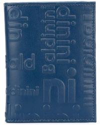 Baldinini Embossed Logo Cardholder - Blue