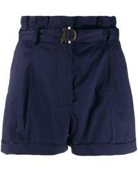 Patrizia Pepe High Waist Shorts - Blauw