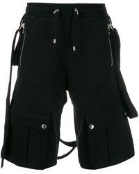 Balmain Knielange Shorts - Schwarz