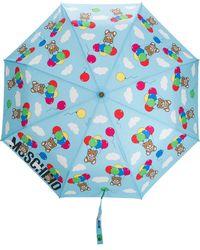 Moschino Parapluie à motif Teddy Bear - Bleu