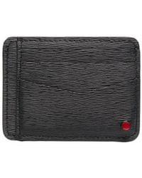 Kiton Saffiano Leather Cardholder - Black