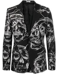 Alexander McQueen スカル シングルジャケット - ブラック