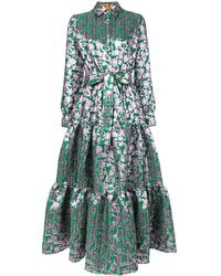 LaDoubleJ Жаккардовое Платье - Зеленый